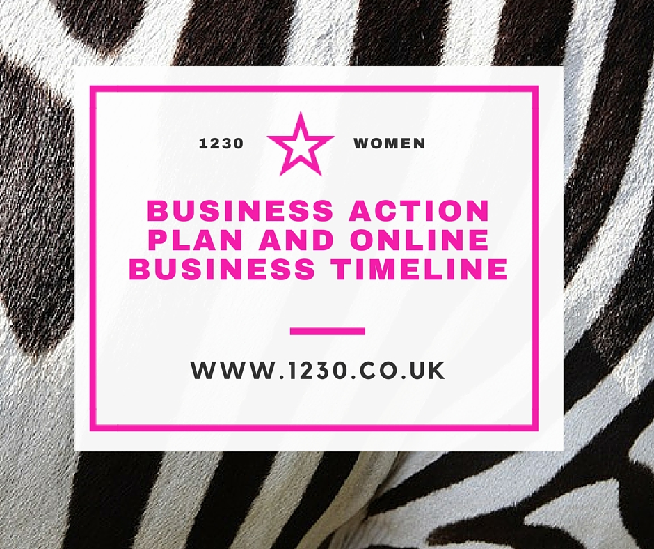 Business Action Plan and Online Business Timeline
