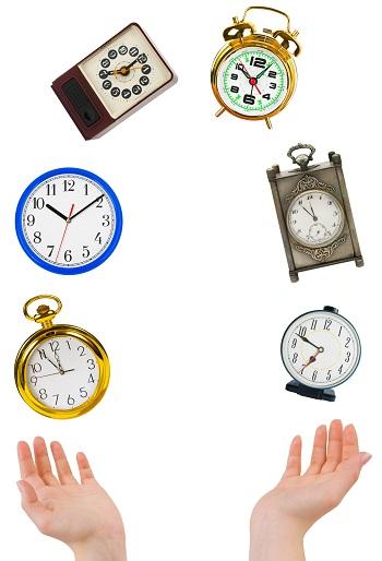 clocks juggling